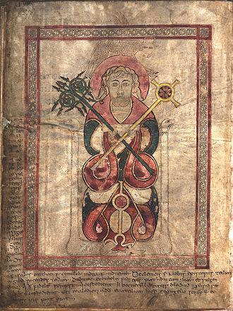 Lichfield Gospels - Evangelist portrait of Saint Luke