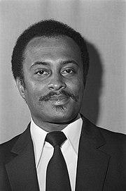 Portret van Iwan Graanoogst, surinaams minister van leger en politie., Bestanddeelnr 931-6585.jpg