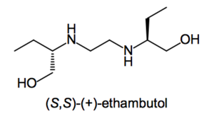 Enantiopure drug - Image: Positive enantiomer of ethambutol