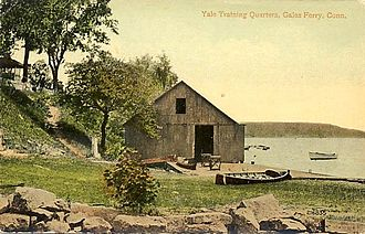 Gales Ferry, Connecticut - Training quarters from a postcard, c. 1907–1915