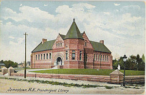 Jamestown, New York - Prendergast Library, postcard circa 1901–1907