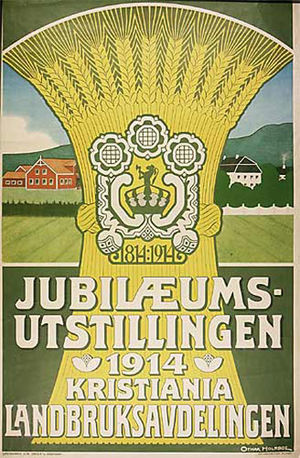 1914 Jubilee Exhibition - Poster for the agriculture department.