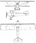 Potez 25 3-view Le Document aéronautique October,1926.png