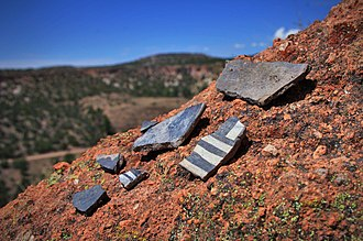 Tsankawi - Pottery Shards Near Tsankawi
