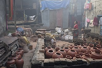 Dharavi - A traditional pottery unit in Dharavi.