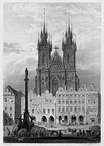 Praha Staromestske namesti c1841
