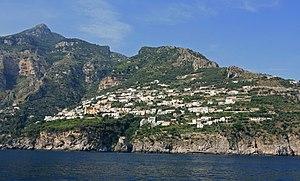 Praiano - View of Vettica Maggiore, a frazione of Praiano.