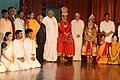 Pranab Mukherjee with the artists after witnessing the Dance Drama Sita Svayamvaram by Kalakshetra Foundation, at Chennai, in Tamil Nadu. The Governor of Tamil Nadu.jpg
