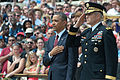 President Barack Obama stands with U.S. Army Maj. Gen. Michael S. Linnington, the commanding general of Joint Force Headquarters-National Capital Region and the U.S. Army Military District of Washington, during 130527-A-VS818-183.jpg