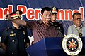 President Rodrigo Duterte delivers a message during his visit at the Police Regional Office-12 Headquarters in General Santos City on September 23.jpg