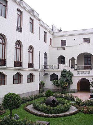 Government Palace (Peru) - Sevillan Courtyard of the Government Palace
