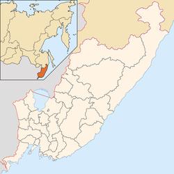 海參崴在濱海邊疆區的位置