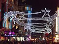 Prince of Wales Theatre - Coventry Street, London - Mamma Mia! - Christmas lights (6438795173).jpg