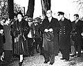 Princess Elizabeth walks with Premier of New Brunswick John B. McNair 1951.jpg