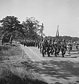 Prinses Irene Brigade.11. A march past. In front the colours of the Brigade. T…, Bestanddeelnr 934-9450.jpg