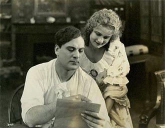 Pudd'nhead Wilson - Thomas Meighan (Tom-cum-Chambers) and Florence Dagmar (Rowena Cooper) in the silent 1916 film