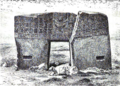 Puerta del sol Tiahuanaco fachada este 1877.png
