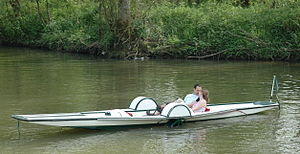 Punt (boat) - A Thames punt adapted as a pedalo