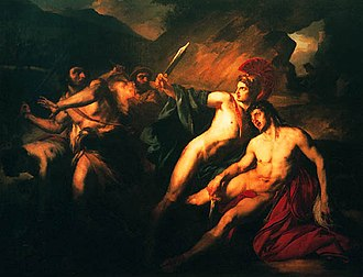 Pylades - Pylades and Orestes by François Bouchot. Pylades is shown protecting Orestes during his spell of madness.