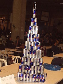Pyramid of Red Bull cans.jpg