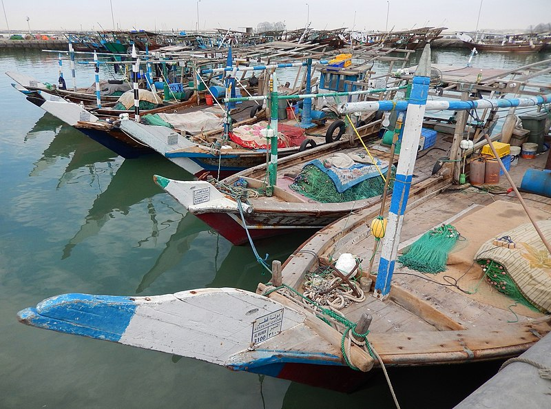 File:Qatar, Al Khor (16), Dhows in the harbour.JPG