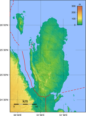 Geography of Qatar - Topography of Qatar