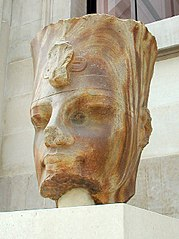 Colossal quartzite statue of Amenhotep III