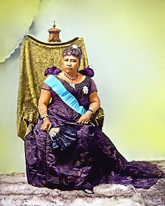 125th anniversary of the overthrow of the Kingdom of Hawaii - Image: Queen Liliuokalani color