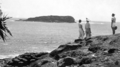 Queensland State Archives 2116 Cook Island from Fingal Giants Causeway in foreground c 1934.png