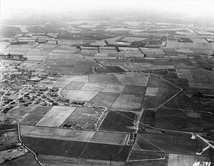 RAF Feltwell - Aerial photograph from the west, World War II