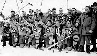 Ice hockey at the 1948 Winter Olympics - The Ottawa RCAF Flyers, who represented Canada and won the gold medal.