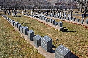 RMS Titanic Graves in Fairview Cemetery.jpg