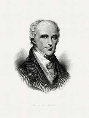 Richard Rush - Bureau of Engraving and Printing portrait of Rush as Secretary of the Treasury.