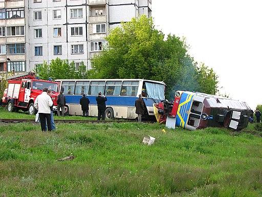 Rail accident in Ukraine