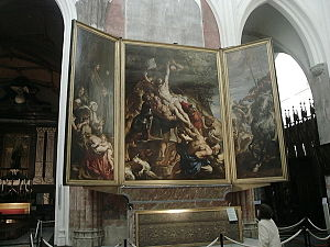 The Elevation of the Cross (Rubens) - View of the whole triptych