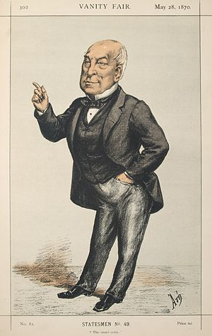 Ralph Bernal Osborne - Caricature by ATn published in Vanity Fair in 1870.