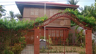 Fidel Ramos - Rented family house of Narciso Ramos and Angela Valdez in Lingayen, where Fidel and Leticia Ramos-Shahani were born