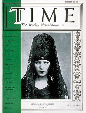 Raquel Meller - Image: Raquel Meller Time magazine cover April 26, 1926