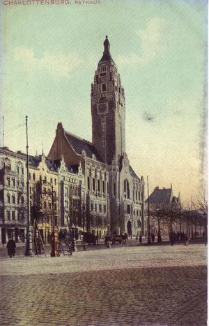 Charlottenburg Town Hall - Postcard, about 1905
