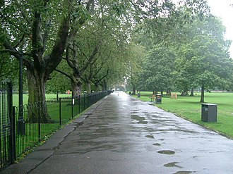 Ravenscourt Park - The main avenue in Ravenscourt Park