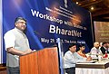 Ravi Shankar Prasad addressing at a meeting of the Information Technology Ministers of States on National Optical Fiber Network (Broadband Connectivity), in New Delhi on May 29, 2015.jpg