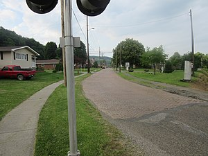 Rayland, Ohio - South end of Main Street in Rayland, Ohio.