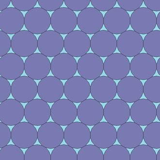 Octadecagon - Image: Regular octadecagon concave hexagon tiling