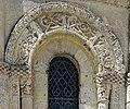 Reich geschmückt, die romanische Apsis (12. Jahrhundert) der Kirche Saint-Vivien-de-Medoc. 10.jpg
