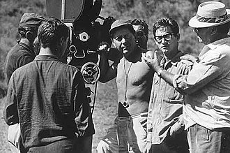 Renzo Rossellini (producer) - From right. Roberto Rossellini, Renzo Rossellini and Carlo Carlini on set. 1964