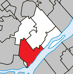 Repentigny, Quebec - Image: Repentigny Quebec location diagram