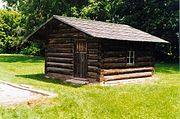 Replica of a cabin at Morviantown