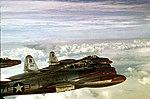 Republic F-84G Thunderjets of the 55th Fighter Bomber Squadron cruise over the Atlantic Ocean 110310-F-1234C-001.jpg