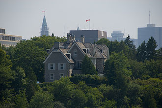 24 Sussex Drive, the official residence of the prime minister of Canada Residence of the Prime Minister of Canada.jpg