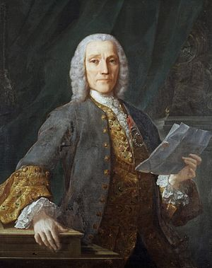 Domingo Antonio Velasco - Velasco's portrait of Domenico Scarlatti, made around 1739 after he received from D. João V the Cross of the Order of Santiago.